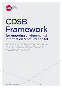 CDSB Framework for reporting environmental information & natural capital