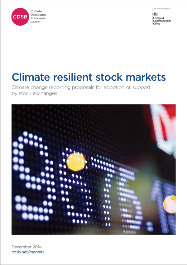 Climate resilient stock markets report